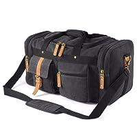 Plambag Oversized Canvas Duffel Bag Overnight Travel Tote Weekend Bag