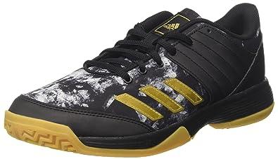 more photos 680a2 8aa1d adidas Ligra 5 Chaussures de Handball Homme, Noir (Core Black Gold Met