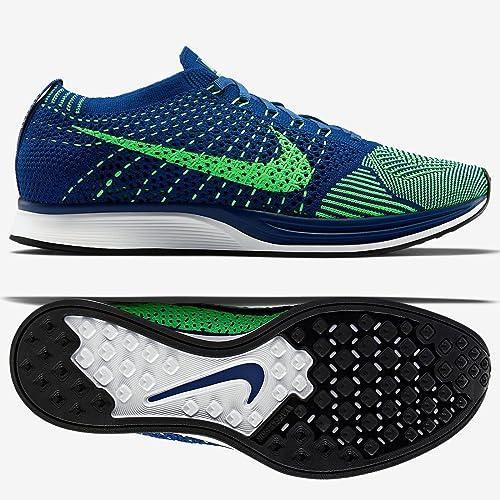 sports shoes 29982 5d045 Nike Flyknit Racer 526628 - 403 Brave Azul Veneno Verde Zapatillas de  Running para Hombre tamaño 13  Amazon.es  Zapatos y complementos