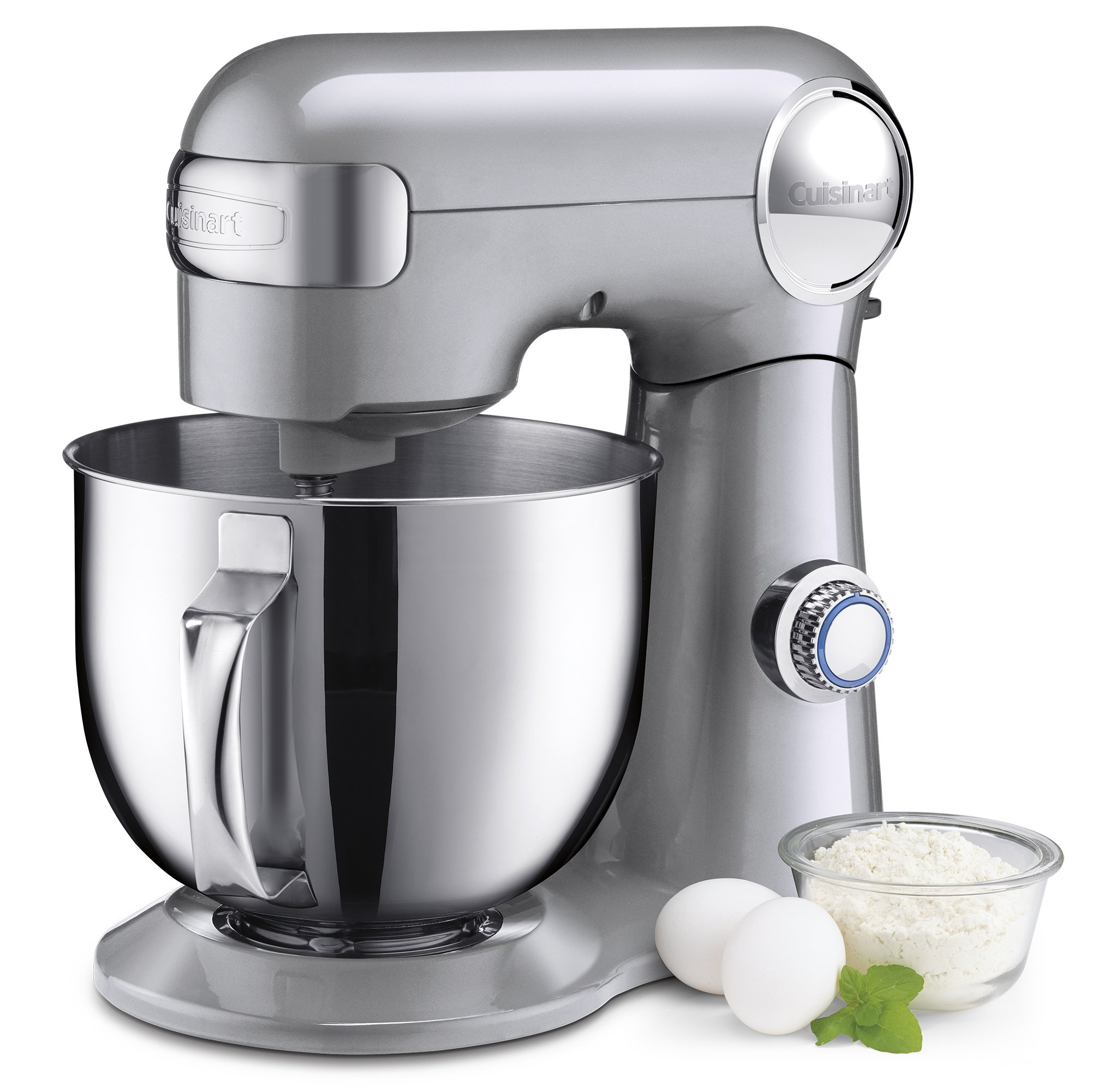 Cuisinart SM-50BC 5.5-Quart Stand Mixer, Brushed Chrome, Silver Lining by Cuisinart