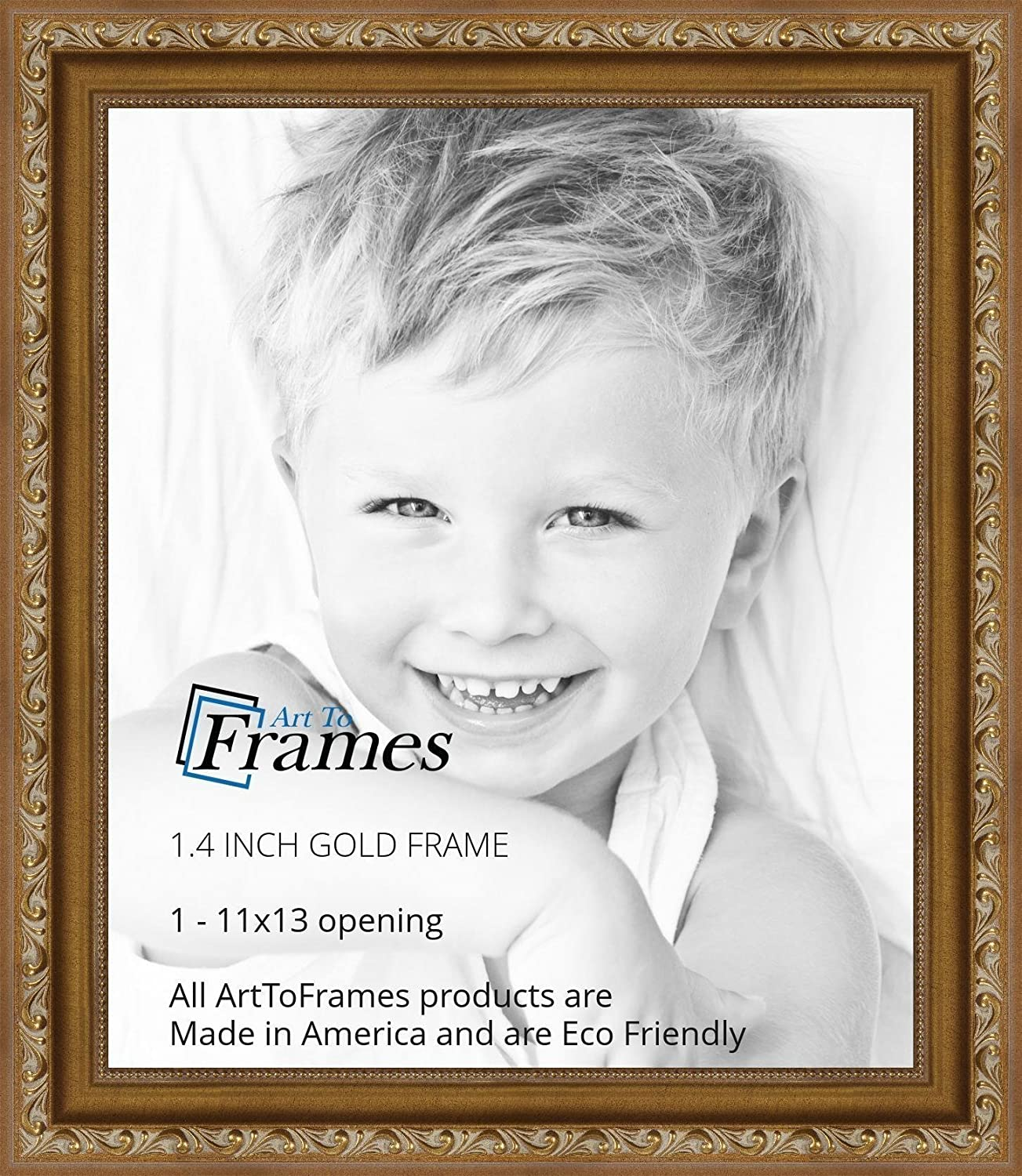 Amazon arttoframes 11x13 inch gold with beads wood picture amazon arttoframes 11x13 inch gold with beads wood picture frame 2womd10051 11x13 single frames jeuxipadfo Image collections