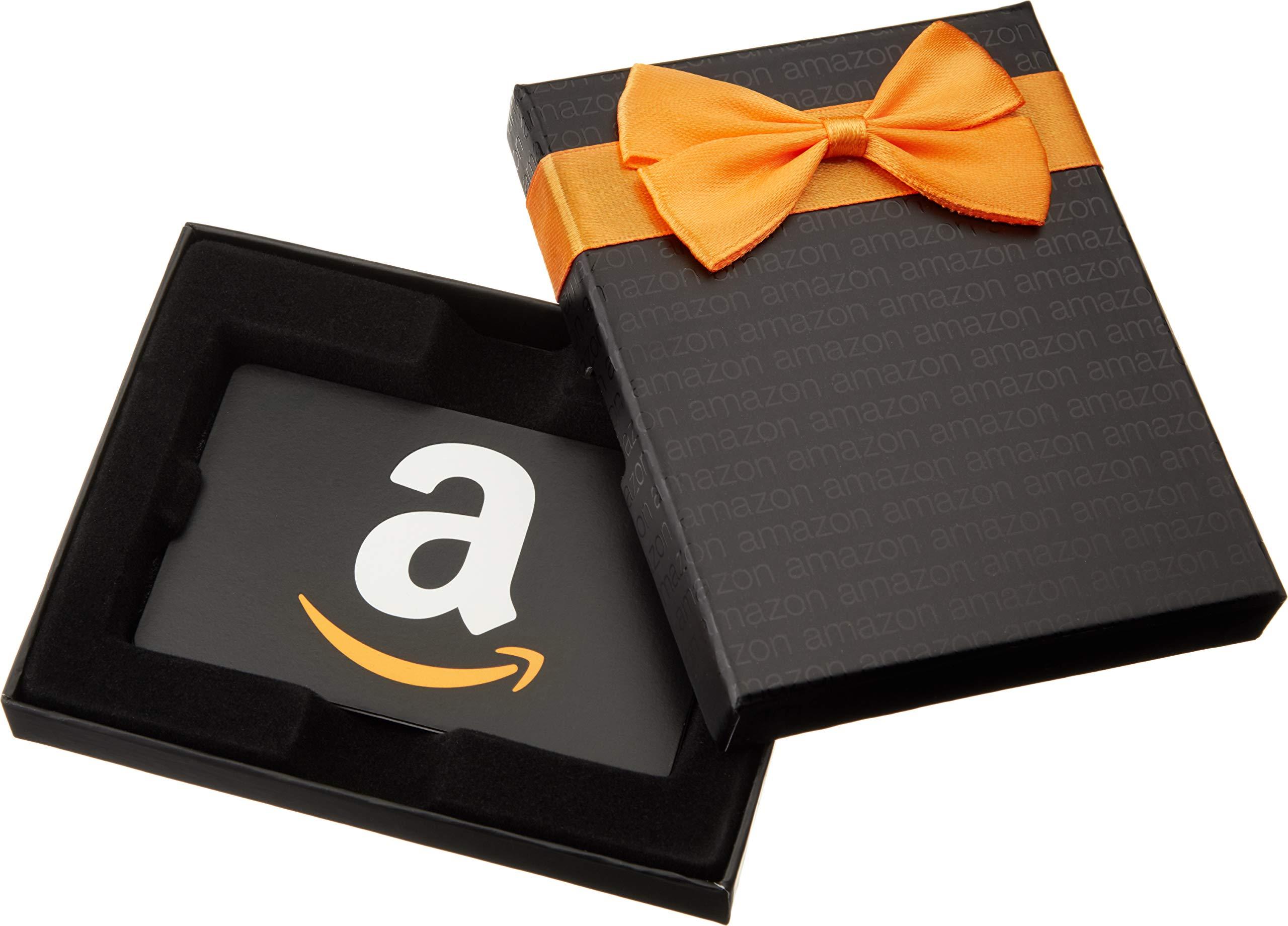 Galleon Amazon Com Gift Card In A Black Gift Box Classic Black