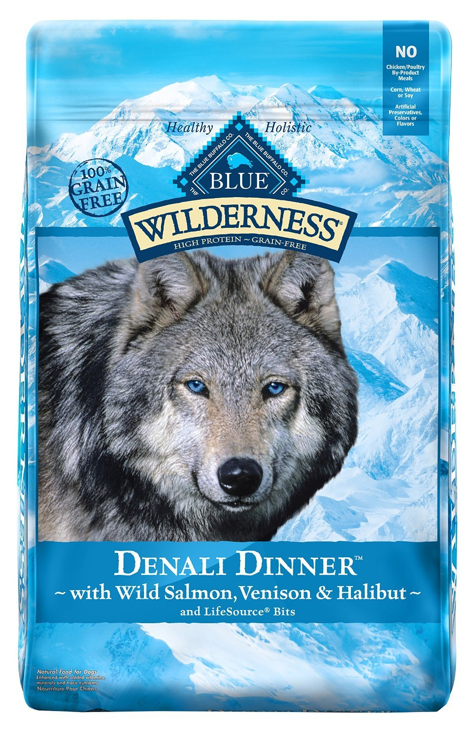 22 LB, Protein-Rich, Grain-Free Denali Dinner Adult Dog Food by BLUE Wilderness by BLUE Wilderness (Image #1)