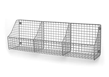 Spectrum Diversified Wall Mount Triple Storage Basket, Satin Nickel