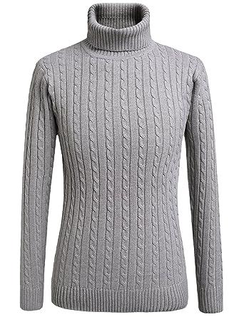 75f21abdbe9 SSLR Men's High Neck Plain Pullover Sweater