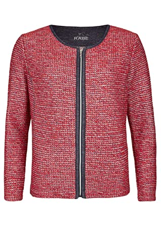Rabe Damen Jacke mit Strickmuster und Reißverschluss: Amazon