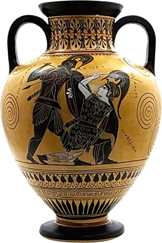 greekartshop Generic Amphora Achilles Slaying Penthesilea Ancient Greek Vase Pottery Museum Copy 530 BC