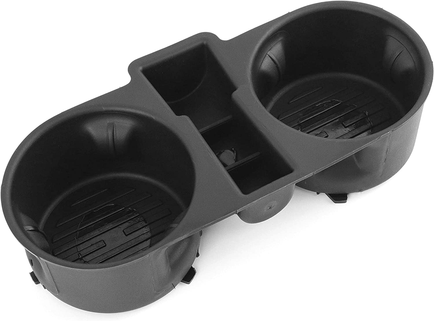 Red Hound Auto Cup Holder Insert Holds 2 Cups Compatible with Ford F-150 2015-2020 fits Front Center Console Floor (fold Down Console only) Rubber Black Liner Beverage Holder