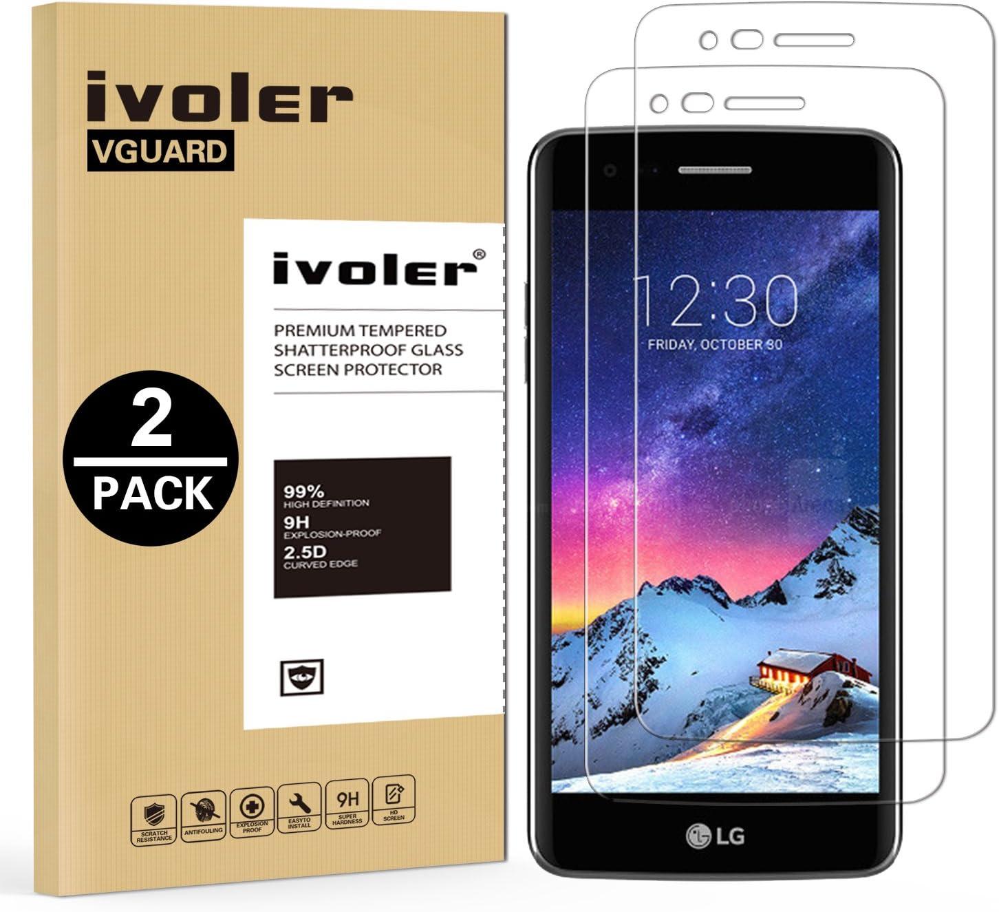 ivoler [2 Unidades] Protector de Pantalla para LG K4 2017 / LG K8 ...