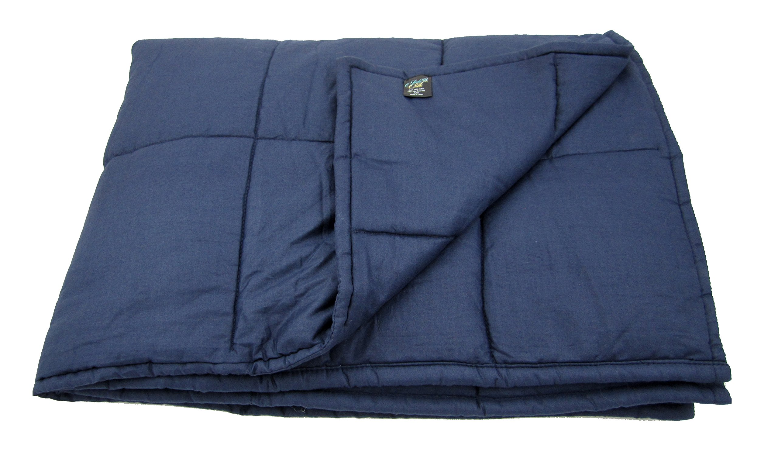 Weighted Blanket for Adults, 10lb, Cotton, Stress and Anxiety Relief, Helps Calm AAD, ADHD, Autism By Jade Silk by Jade Silk (Image #4)