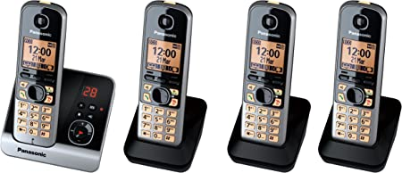 Panasonic KX-TG6724GB Quattro - Teléfono inalámbrico (pantalla de 1,8