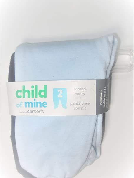 Amazon.com: Child of Mine Baby Footed Pants, Preemie (Blue): Clothing
