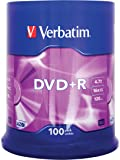 VERBATIM 43551 4.7Go 16x DVD+R Matt Silver - 100 Pack Spindle