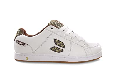 9252f2b9ca Duffs Men s Concert Skateboarding Shoe White Tan D160-WHT 6 UK ...
