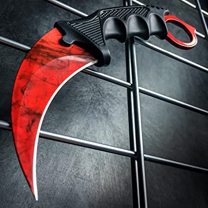 Amazon.com: CS: GO Ruby Gamma Doppler Karambit Hawkbill Full ...