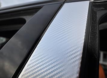 Set de 6 embellecedores para puerta de coche, de carbono, color negro: Amazon.es: Coche y moto