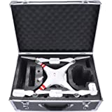 Crazepony-UK Carrying Case Aluminum Hard Travel Box Professional Advanced for Drone DJI Phantom 4 Quadcopter (also for Phantom 3)