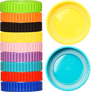 Youngever 27 Pack Plastic Mason Jar Lids with Airtight Ring for Regular Mouth Ball, Kerr and More, Food Grade Plastic Storage Caps for Mason, Canning Jars