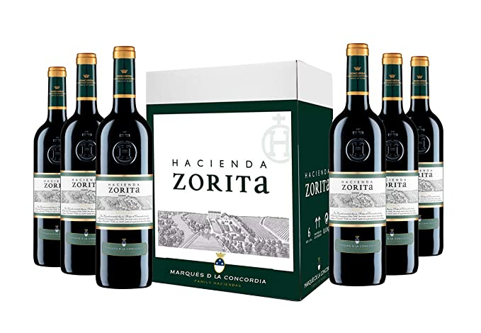 Caja de Hacienda Zorita Crianza Vino tinto - 6 botellas x 750 ml.