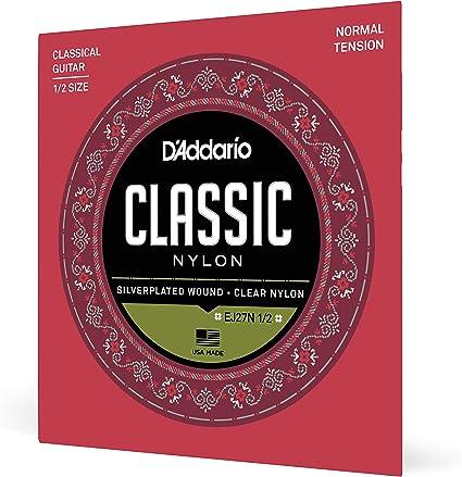 DAddario EJ27N 1/2 Juego de Cuerdas, 1/2 .029-.045: Amazon.es ...
