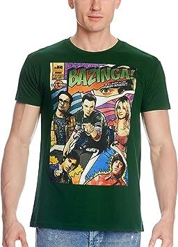 The Big Bang Theory – Camiseta Bazinga Comic Style – Impresión Personajes la Sit com Americana: Amazon.es: Deportes y aire libre