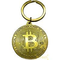 JTech Porte Clé Pièce Bitcoin plaqué Or - BTC Crypto Monnaie – LTC – ETH – ADA – XRP idée Cadeau Noel Noël