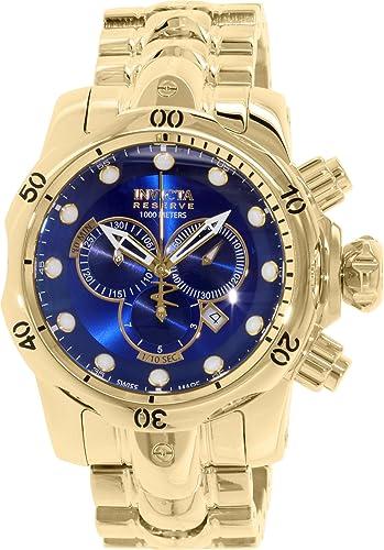 Amazon.com: Invicta Venom Chronograph Blue Dial Gold Ion-plated Mens Watch 14504: Invicta: Watches