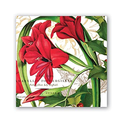 NEW Michel Design Works 20 Triple-Ply Paper Cocktail Napkins Christmas Time