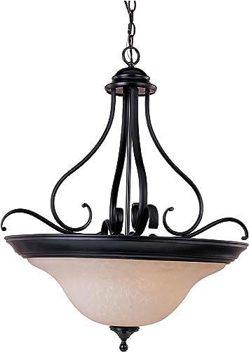 Maxim 85803WSOI, Linda EE Bowl Pendant, 4 Light, 52 Watts Fluor, Oil Rubbed Bronze