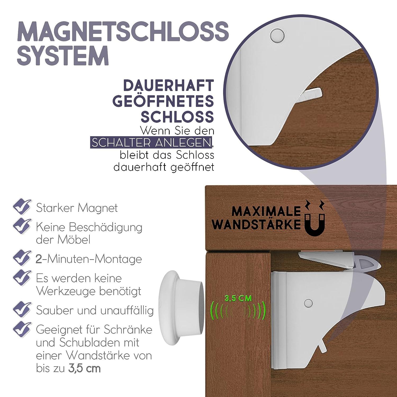 Matana Kindersicherheit Magnetschloss Sicherheitsschloss für ...