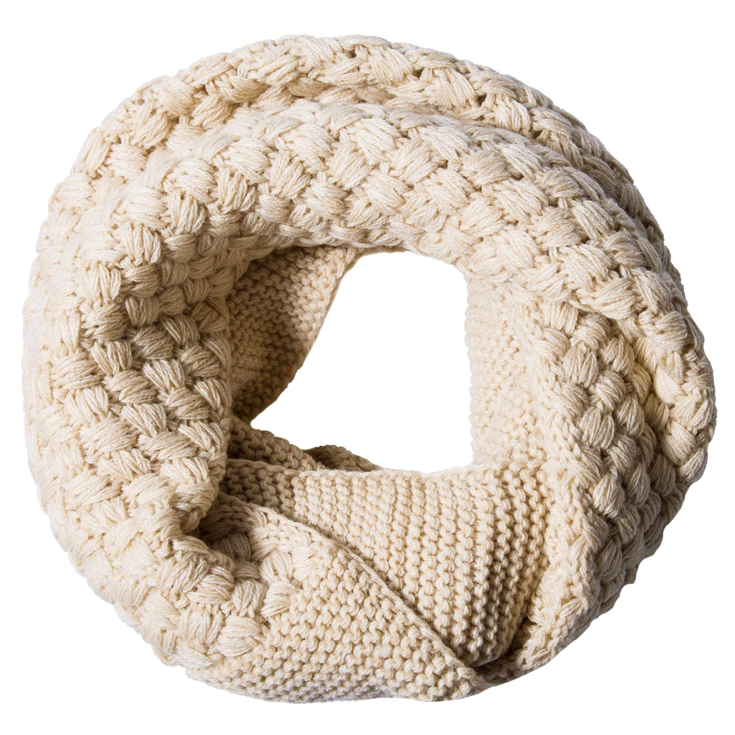 YSense Womens Winter Warm Ribbed Knit Infinity Scarf Fashion Thick Circle Loop Scarves 085-WLS-2