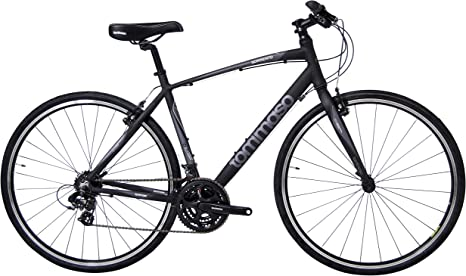 Tommaso Sorrento - Bicicleta híbrida Shimano Tourney, Color Negro ...