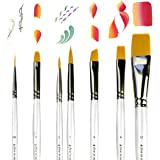 Art Paint Brushes for Acrylic Painting Watercolor Oil Gouache - Body and Face Paint Brushes for Adults Kids. Best Artist Pain