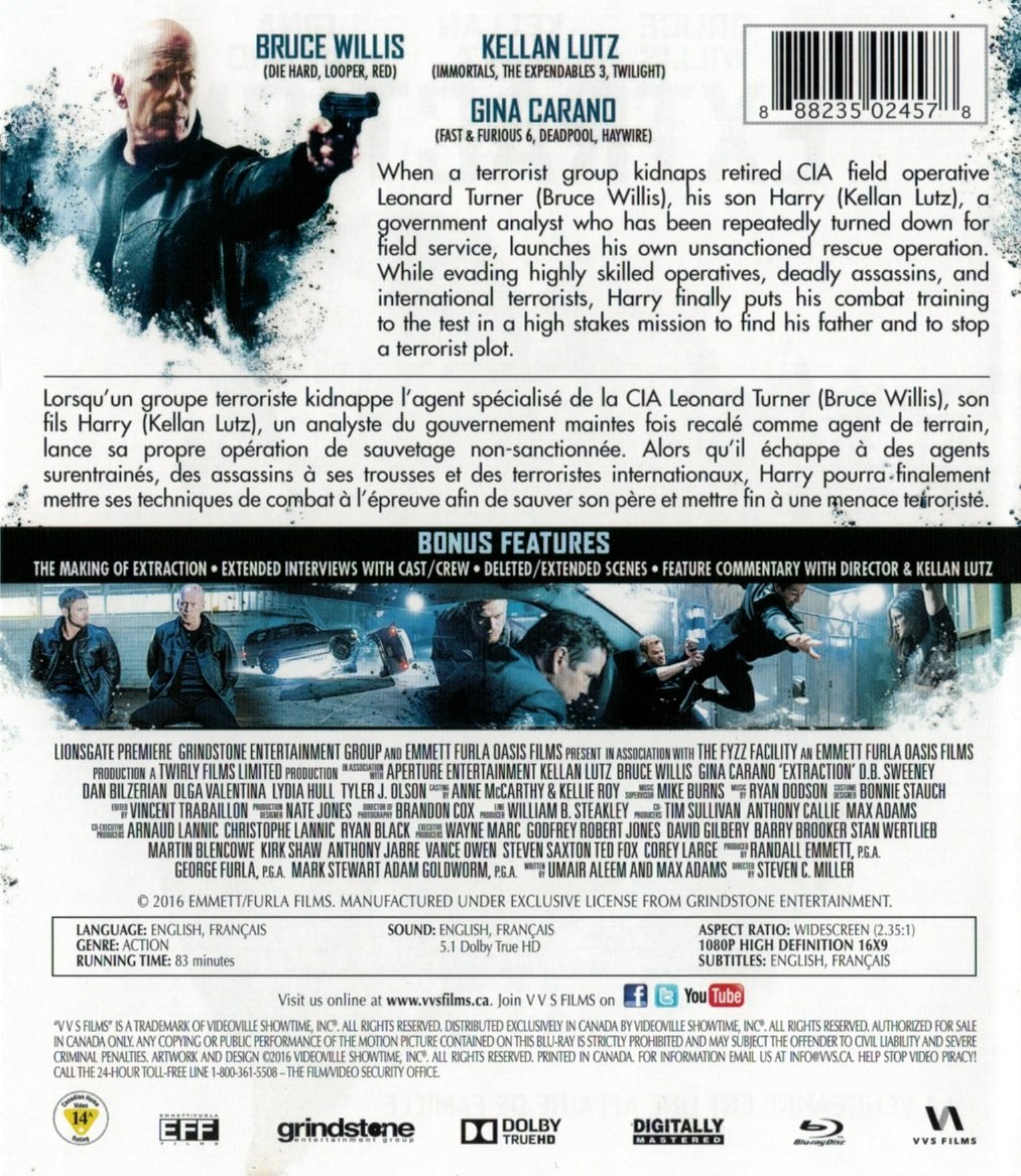Amazon.com: Extraction (Blu-ray): Bruce Willis, Kellan Lutz, Gin: Movies & TV