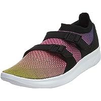 Nike Men's Air Sockracer Flyknit PRM, Yellow Strike/White-Racer Pink-Black