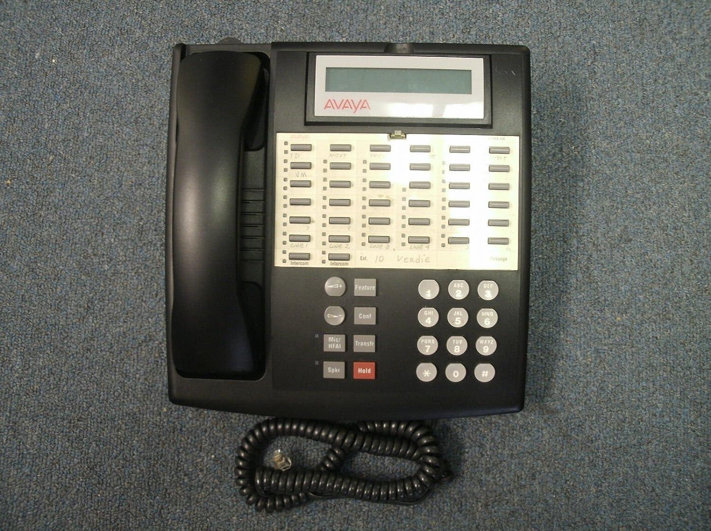 Lucent Avaya Partner 34D Euro 34 Button Display Phone Telephone Black 107305054