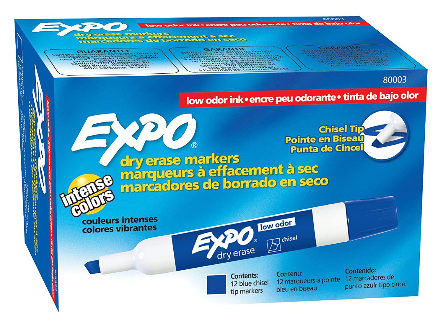 Expo Dry Erase Blue Markers 12...