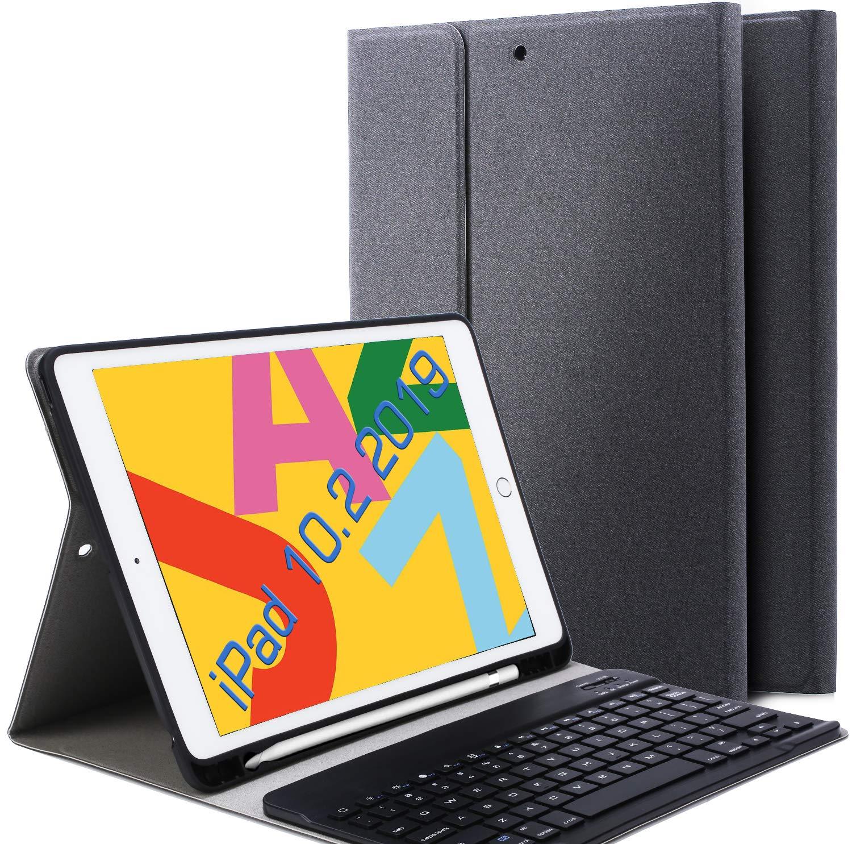 Funda Con Teclado Para iPad 10.2 (2019) 7 Gen. Negro
