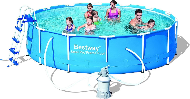 Bestway - Piscina Steel Pro 427 x 100 cm + depuradora arena ...