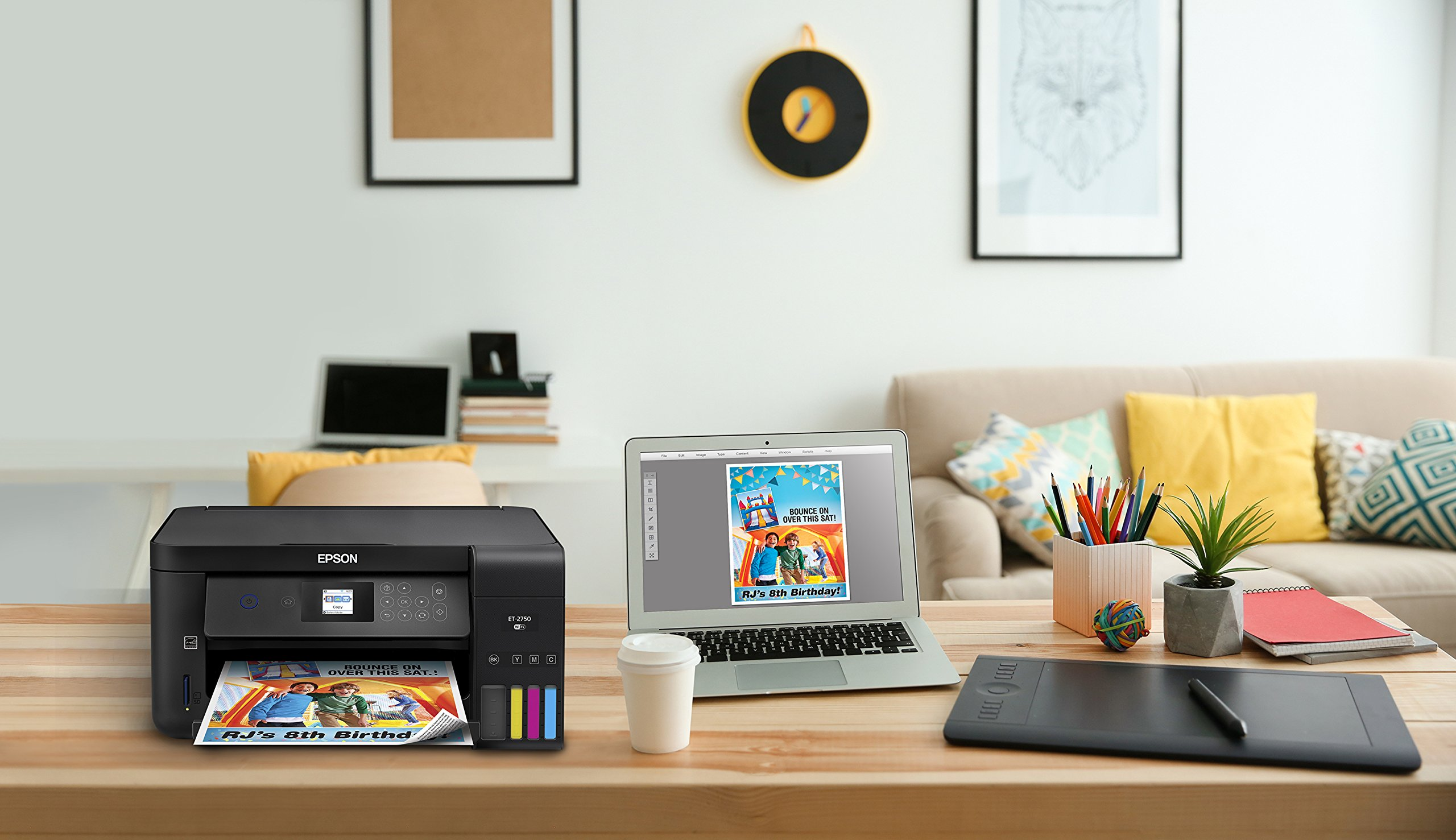Epson Expression ET-2750 EcoTank Wireless Color All-in-One Supertank Printer with Scanner and Copier by Epson (Image #5)