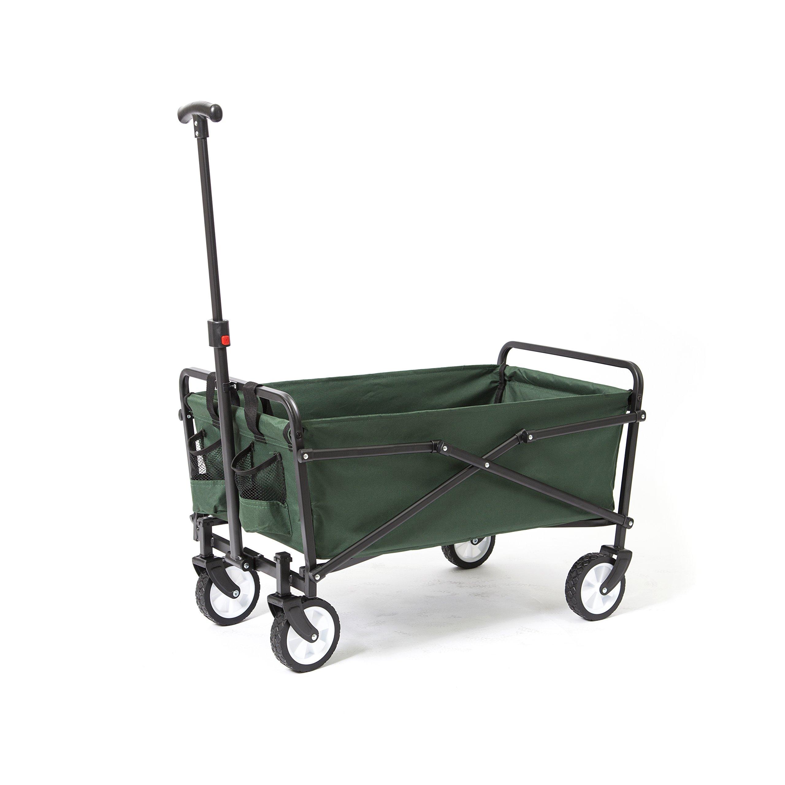 YSC Wagon Garden Folding Utility Shopping Cart,Beach (Green) by YSC (Image #4)