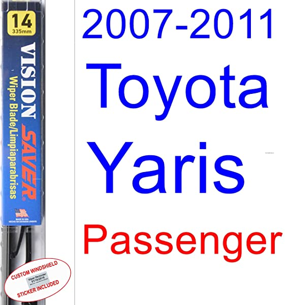 2007-2011 Toyota Yaris Wiper Blade (Passenger) (Saver Automotive Products-Vision Saver) (2008,2009,2010)