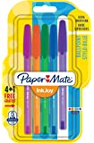 Paper Mate InkJoy 100 CAP Lot de 5 Stylos bille pointe moyenne Couleurs Fun