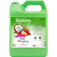COSMOS 060104 TropiClean Berry and Coconut Deep Cleaning Pet Shampoo, 1 Gallon