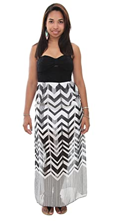 Emerald Sundae Juniors Sleeveless Chevron Maxi Dress at Amazon ...