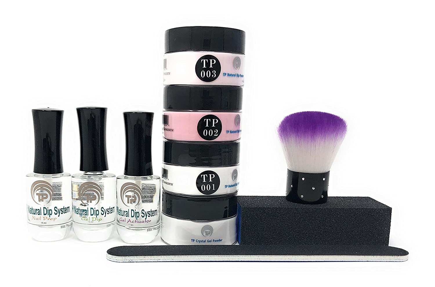 Amazon.com : French Manicure Dipping Powder Starter Kit. 1 oz. per ...