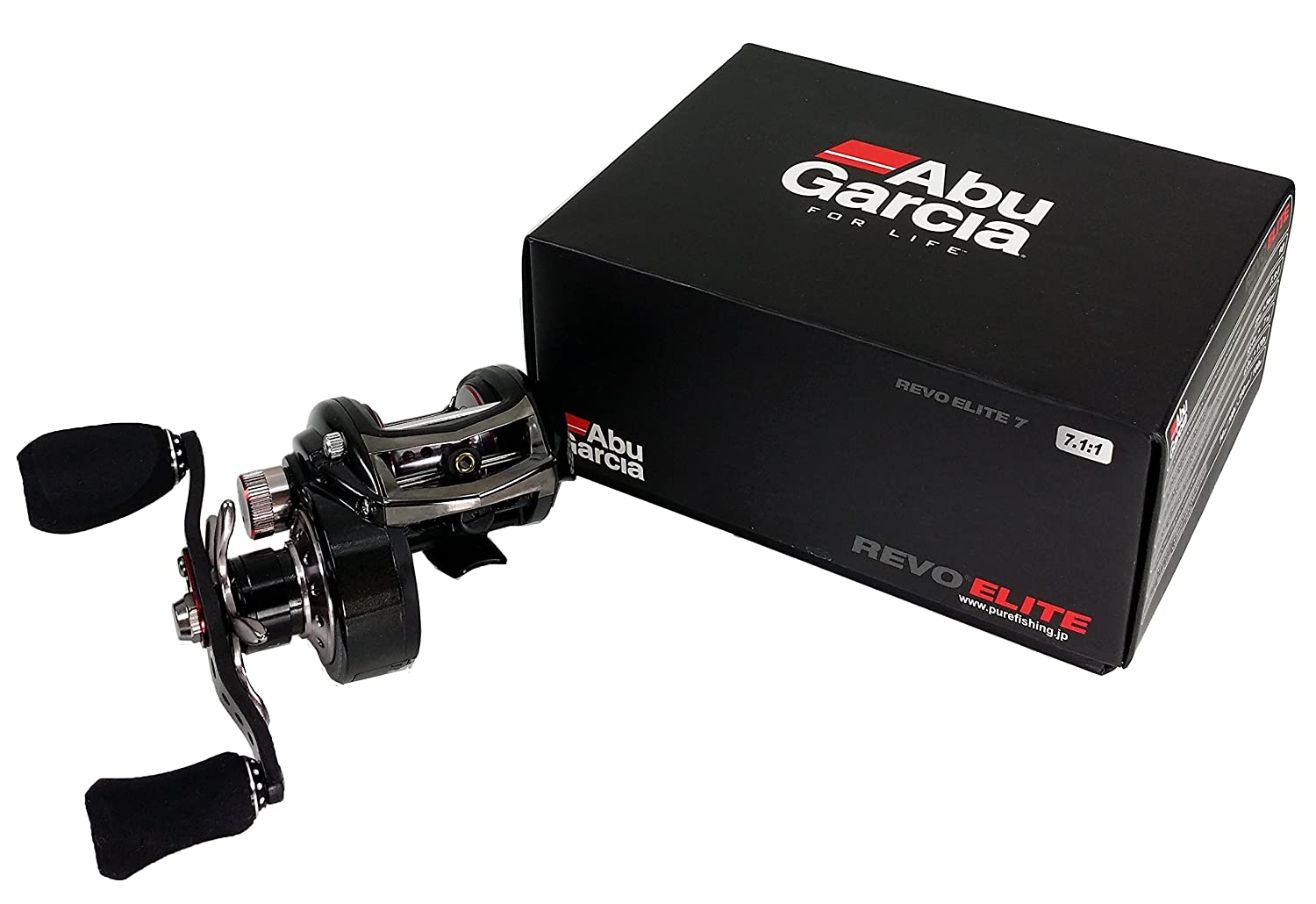Abu Garcia Revo Elite 7 – 7.1 : 1 High Speed Lowプロファイル餌鋳造釣りリール Right  B01MA4OOEO