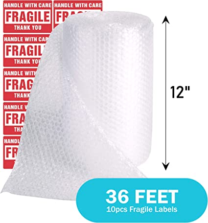 Perforated Every 12 Inches for Shipping Moving and Storing Fragile Stickers Included Offitecture Foam Wrap Roll 12 Inches by 120 Feet Total