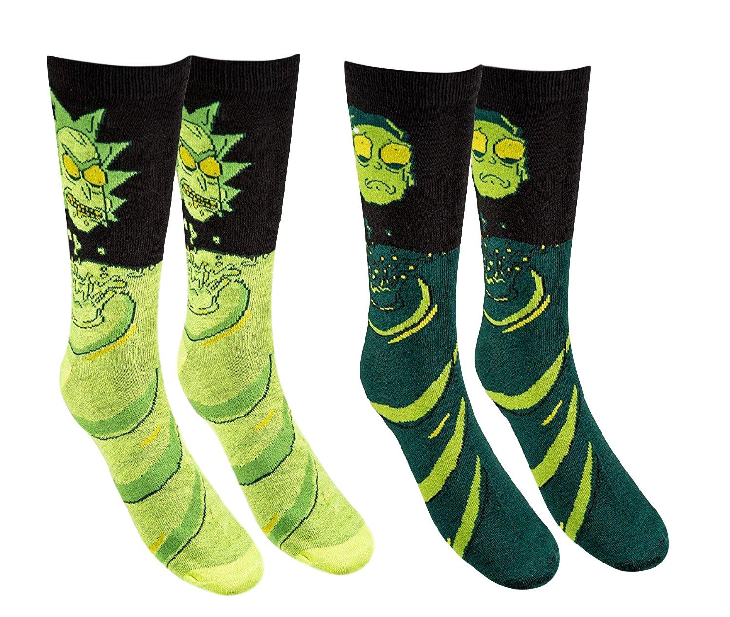Men's Rick And Morty Casual Crew Socks