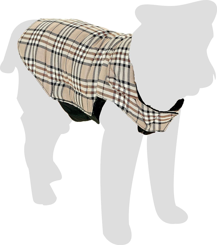 TALLA XL. Karlie Abrigo para Perro Estilo Ingles, 44 cm, Marrón, XL